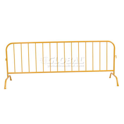 "Crowd Control Barrier Powder Coated Yellow 102""L x 40""H x 1-1/4"" Dia. by"