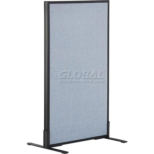 "Freestanding Office Partition Panel, 24-1/4""W x 42""H, Blue by"
