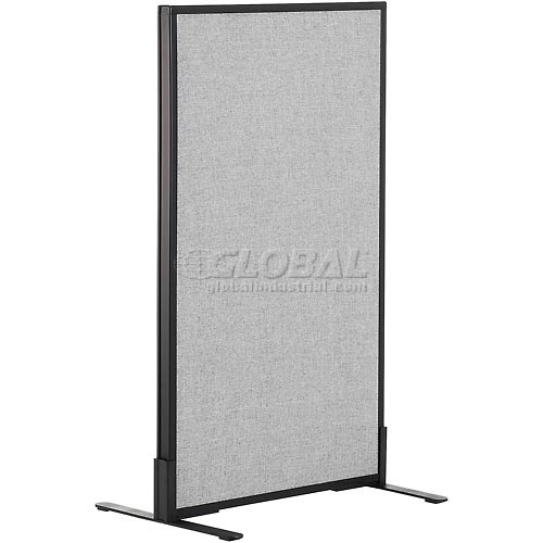 "Freestanding Office Partition Panel, 24-1/4""W x 42""H, Gray by"