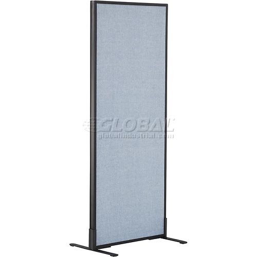 "Freestanding Office Partition Panel, 24-1/4""W x 60""H, Blue by"