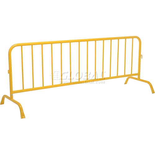 "Crowd Control Barrier Powder Coated Yellow 102""L x 40""H x 1-5/8"" Dia. by"