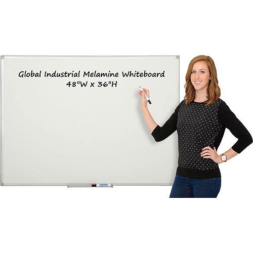 Buy Melamine Dry Erase Whiteboard 48 x 36 Double Sided