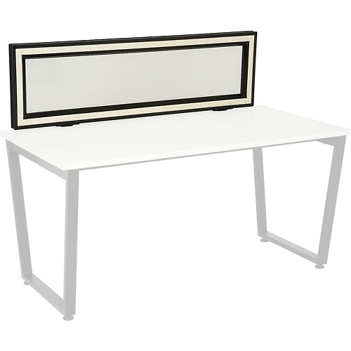 Interion Universal Clamp-On Desk Partition Frosted Glass by