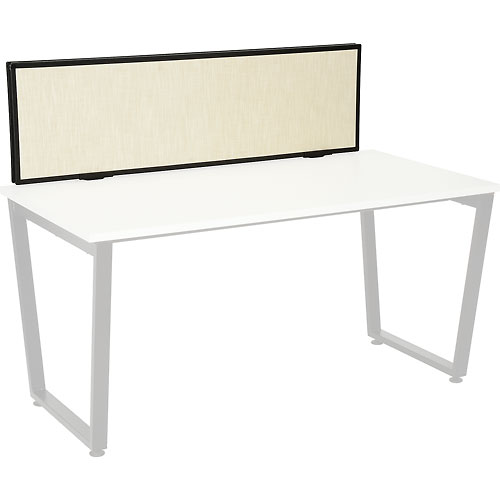 Interion Universal Clamp-On Desk Partition Fabric by