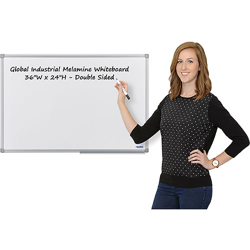 Buy Melamine Dry Erase Whiteboard 36 x 24 Double Sided