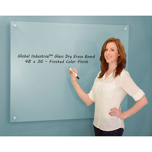 Frosted Glass Dry Erase Board 48 x 36 by