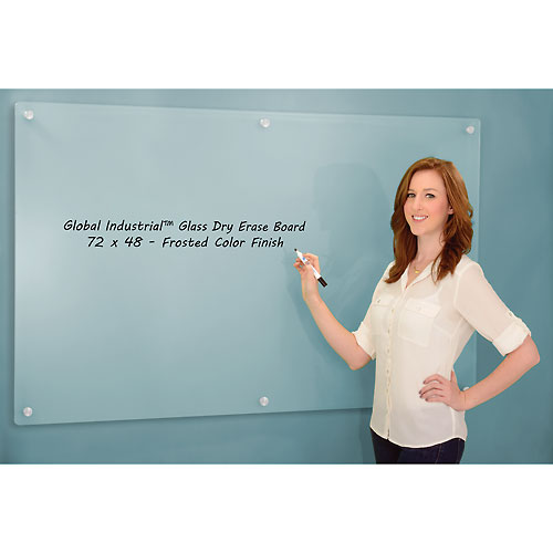 Frosted Glass Dry Erase Board 72 x 48 by
