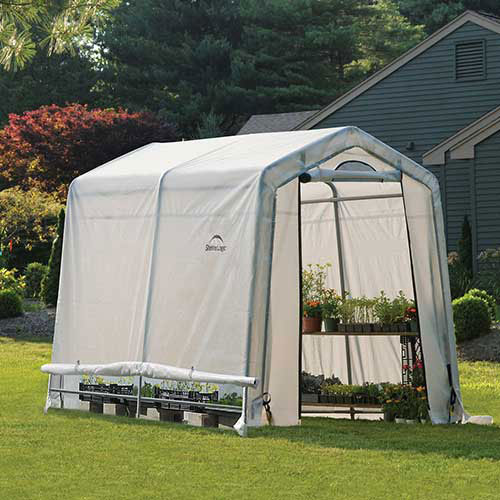 "ShelterLogic 70652 GrowIt Greenhouse-in-a-Box, 6' x 8' x 6' 6"", 1-3/8"" Frame Sz by"