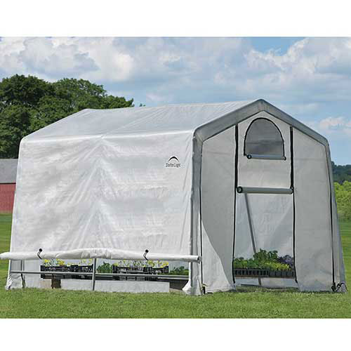 "ShelterLogic 70656 GrowIt Greenhouse-in-a-Box, 10' x 10' x 8', 1-3/8"" Frame Sz by"