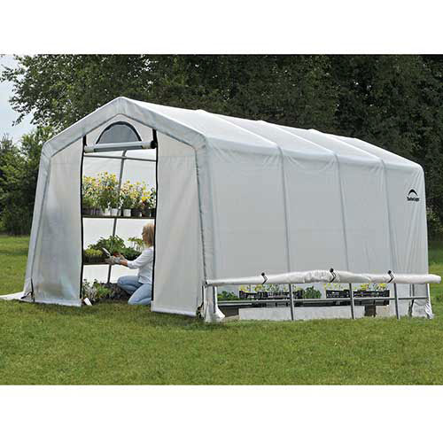 "ShelterLogic 70658 GrowIt Greenhouse-in-a-Box, 10' x 20' x 8', 1-3/8"" Frame Sz by"