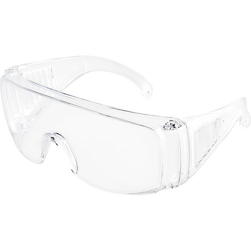 Global Industrial Visitor Safety Glasses, Clear Frame, 1 Each Package Count 12 by