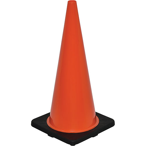 "28"" Traffic Cone, Non-Reflective, Black Base, 7 lbs  by"