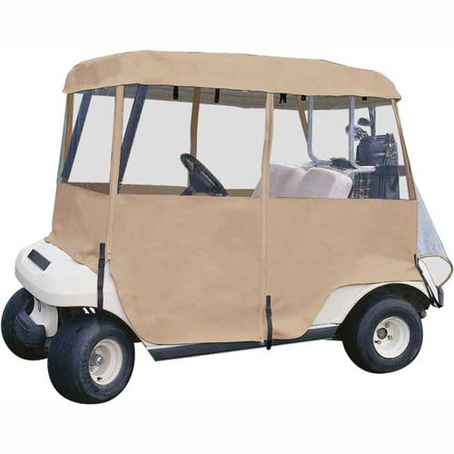 Classic Accessories Deluxe 4-Sided Golf Car Enclosure, Two-Person 72072 by