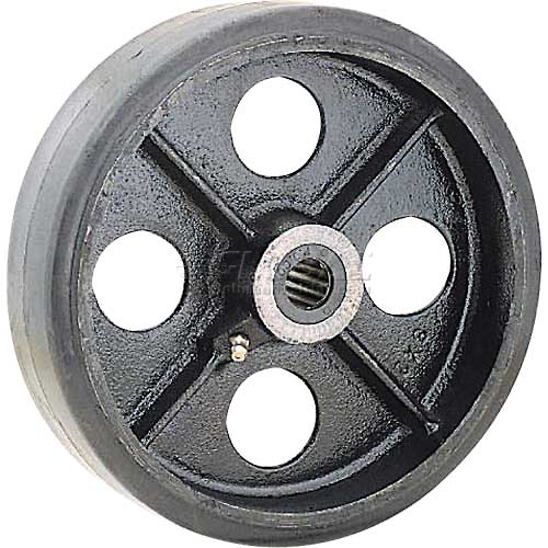 "5"" x 1-1/2"" Mold-On Rubber Wheel Axle Size 3/4"" by"