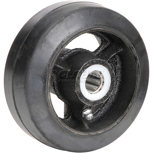 "5"" x 2"" Mold-On Rubber Wheel Axle Size 5/8"" by"