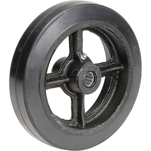 "8"" x 2"" Mold-On Rubber Wheel Axle Size 3/4"" by"