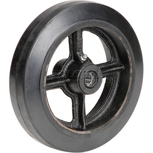 "8"" x 2"" Mold-On Rubber Wheel Axle Size 5/8"" by"