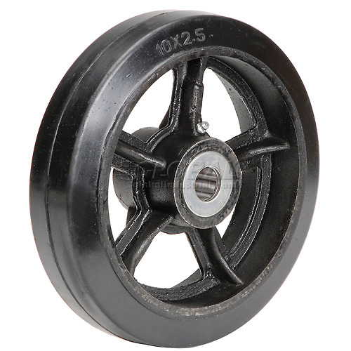 "10"" x 2-1/2"" Mold-On Rubber Wheel Axle Size 1"" by"