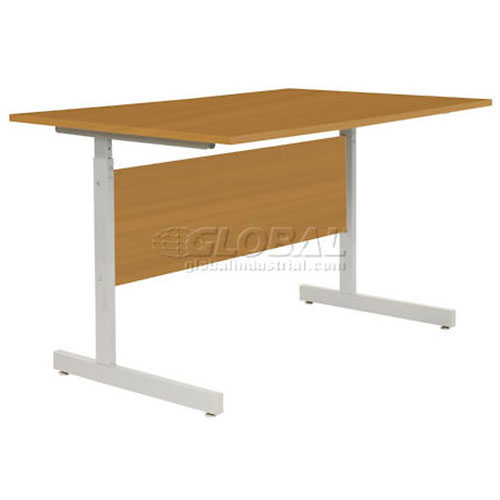 """Interion Height Adjustable Computer Desk/Table, 36""""W x 30""""D x 26""""- 28""""H, Oak by"""