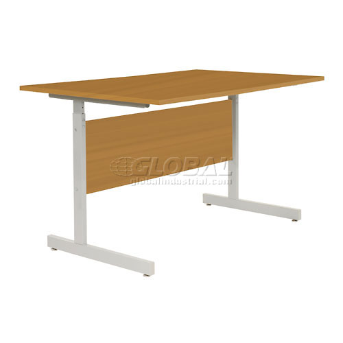 "Interion Height Adjustable Computer Desk/Table, 48""W x 30""D x 26""- 28""H, Oak by"