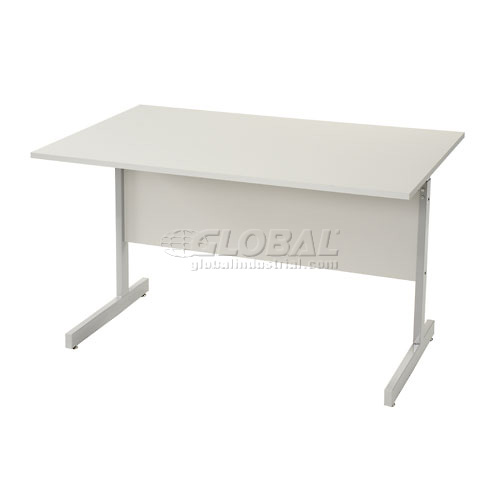 """Interion Height Adjustable Computer Desk/Table, 30""""W x 24""""D x 26""""- 28""""H, Gray by"""