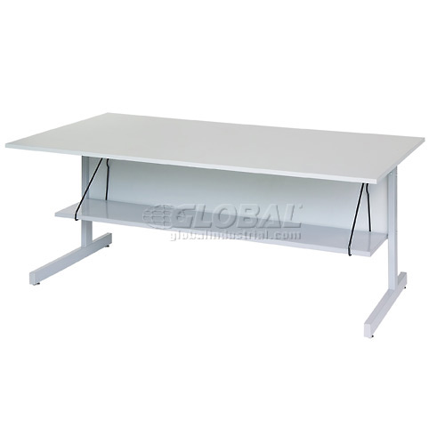 "Interion Height Adjustable Computer Desk/Table, 60""W x 30""D x 26""- 28""H, Gray by"