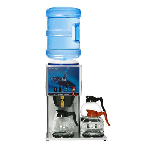 "Click here to buy Newco 773346 KB-3F Coffee Brewer, Bottled Water, Decanter, 3 Warmer, 120V, 16-1/2"" x 18"" x 22-1/8""."