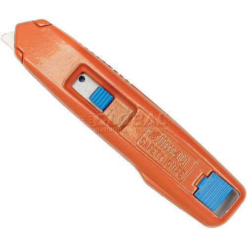 Self-Retracting Aluminum Safety Box Cutter With 6 Blades Package Count 12 by