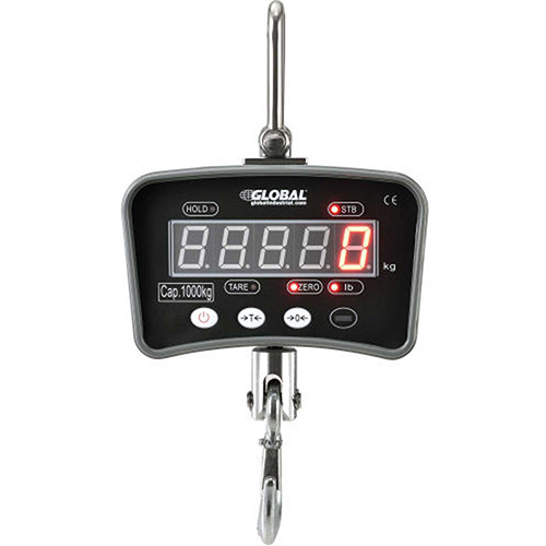 Global Industrial  Digital Crane Scale With Remote 2000 Lbs. x 1 Lbs. by