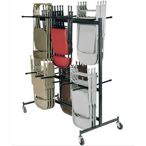 Chair Cart with Double Tier for Folding Chairs Holds 84 Chairs by