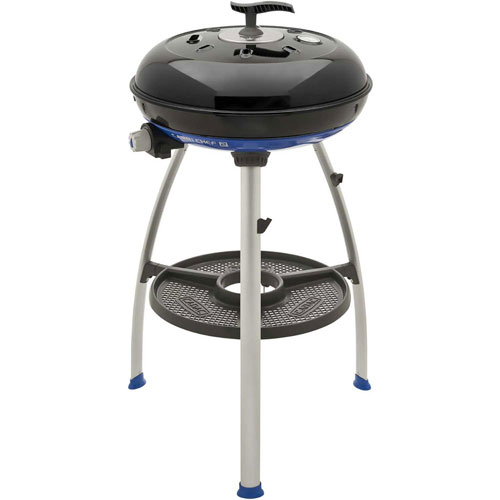 Cadac Carri Chef 2 Outdoor Grill w/ Pot Stand, BBQ Grid & Split Grill/Griddle Plate by