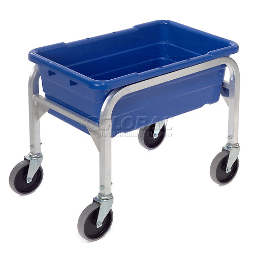 "Aluminum 1 Tote Box Cart, 23""L x 15-1/2""W x 19""H, No Totes by"