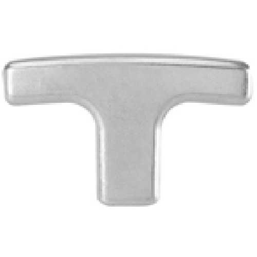J.W. Winco GN563.2 Powder Coated Aluminum T-Handle W/Threaded Stud mm Dia. 67mm Length M8x1.25 by
