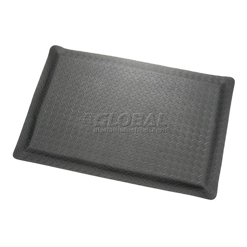 "Diamond Plate Ergonomic Mat 15/16"" Thick 24"" Wide Black Up to 75ft. by"