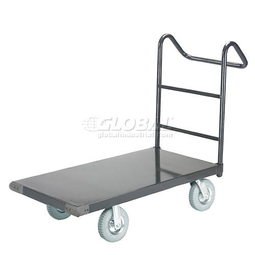 """Steel Deck Platform Truck 72 x 36 1200 Lb. Capacity 8"""" Pneumatic Casters with Ergo Handle by"""
