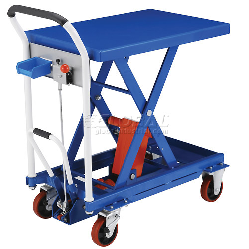 Best Value Mobile Scissor Lift Table with Hook-on Bin 660 Lb. Capacity 29 x 19 Platform by