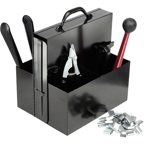 """Steel Strapping Kit With Two 3/4"""" x 200' Coils, Tensioner, Sealer, Cutter & Case by"""