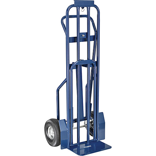 Steel 3-in-1 Convertible Hand Truck with Pneumatic Wheels 600 Lb. Capacity by