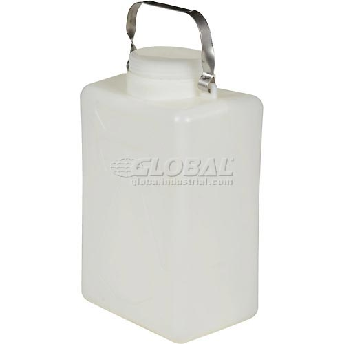 Vestil Carboy Storage Tank CARB-2-SSH 2 Gallons with Stainless Steel Handle by