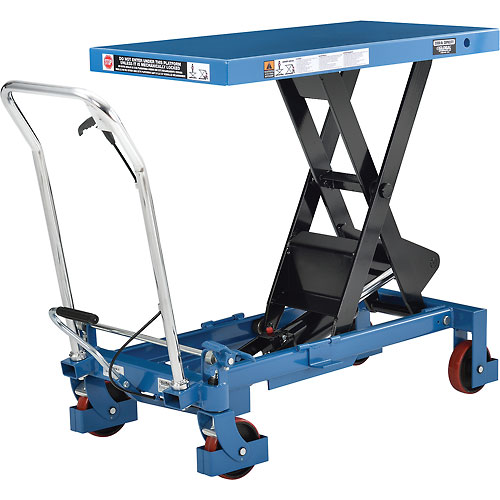 Best Value Mobile Heavy Duty Scissor Lift Table 40 x 20 Platform 2200 Lb. Capacity by