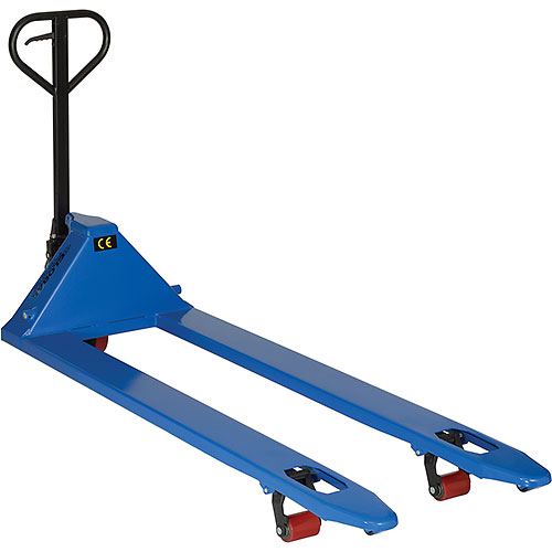 Premium Extra-Long Fork Pallet Jack Truck 27 x 70 4400 Lb. Capacity by