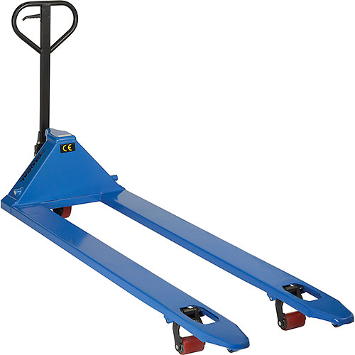 Premium Extra-Long Fork Pallet Jack Truck 27 x 78 4400 Lb. Capacity by