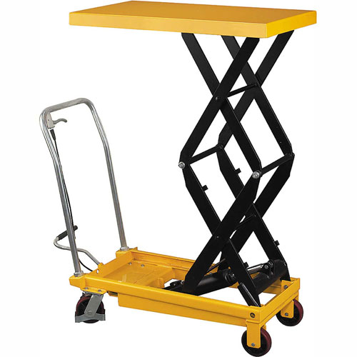 Wesco Mobile Double Scissor Lift Table 272862 1540 Lb. Cap. by