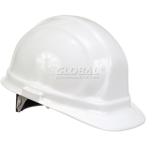 ERB 19951 Omega II Hardhat, 6-Point Ratchet Suspension, White by