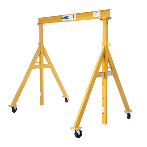 "1 Ton, Spanco, Portable, Steel Gantry Crane, 11'-6"" Span, Adjustable Height 4'-10"" min. 7'-6"" max. by"