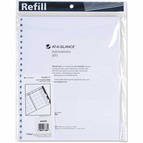 AT-A-GLANCE Three/Five-Year Monthly Planner Refill, 9 x 11, White, 2018 by
