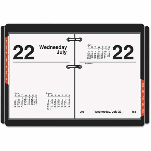 AT-A-GLANCE Compact Desk Calendar Refill, 3 x 3 3/4, White, 2018 by