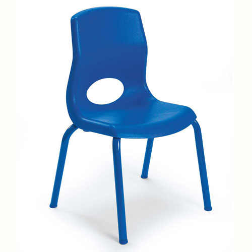 """Click here to buy Angeles My Posture 12"""" Chair Royal Blue."""