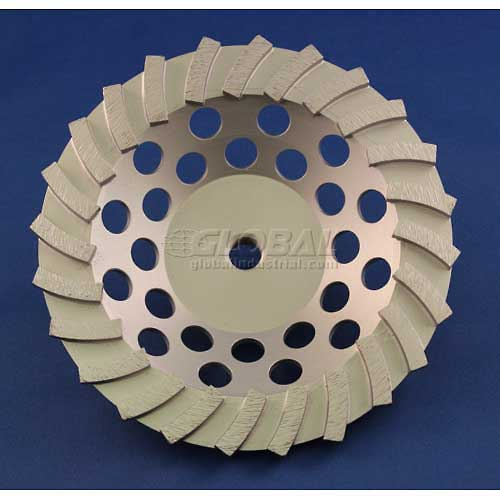 "Edmar Abrasive Company 00869A Segmented Turbo Cup Grinding Wheel 7"" x 5/8""-11 Diamond by"
