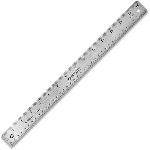 "15"" Stainless Steel Ruler Package Count 12 by"
